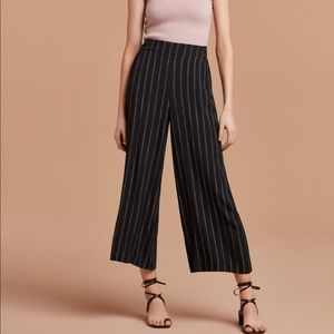 Wilfred blue and white striped flowy pant